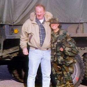 Leslie Jones and her dad John Weber Paul's brother