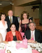 Mary and Toni, Marchie (Marks wife), Laura and Mark. Mary, Mark and Laura are Jims' siblings