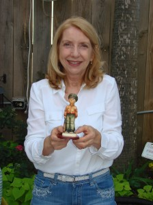 "Ava LaChance WINNER of the Hummel figurine ""Soldier Boy"" drawing"
