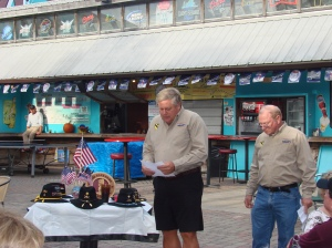 Pete Guthrie reading the Names of our KIA's from 10/68 to 9/69