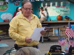 Mike LaChance reading the Names of our KIA's from 10/69 to 9/70