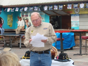 Pat Bieneman reading the Names of our KIA's from 10/70 to 4/71