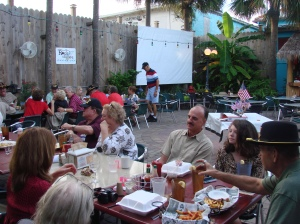 Saturday night Buffet Dinner outside at Harry A's