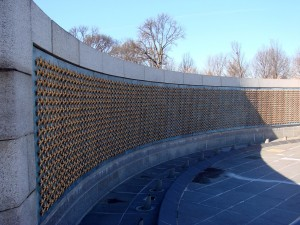 There are over 4,000 stars on this wall representing the more than 400,000 men and women killed during the war