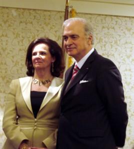 Belgium Ambassador, Jan Matthysen and his Lovely wife, Agnes