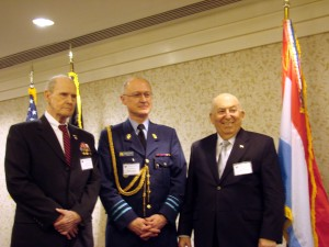 Belgium Ambassador Matthysen, BG Delobel and Hyman Slavin