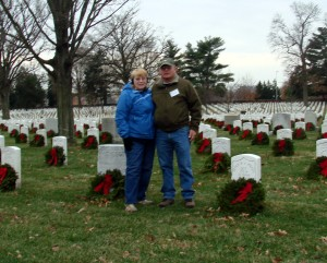 Over 1000,000 wreaths were placed on graves at the Arlington National Cemetery