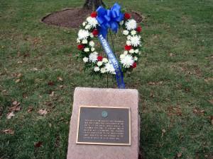 The original Battle of the Bulge Memorial in Arlington National Cemetery