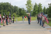Patriot Guard escorted us to the Museum and then lined the Walk of Honor and saluted every Veteran.
