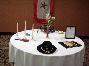 "Our Missing Man ""fallen Brothers"" table"