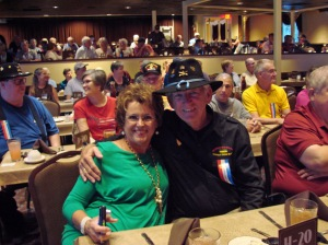 Brenda and Phil Merritt on the Branson Belle.