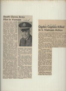 News paper Article about the death of Frank Hiner.